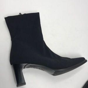 """PAUL GREEN bootie Microfiber Side Zip 2.5"""" heel 6"""